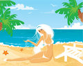 Free Girl On Beach Royalty Free Stock Images - 9564449