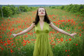 Free Girl With Poppies Royalty Free Stock Photos - 9568138