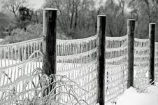 Free Frozen Fence Stock Photos - 9560183