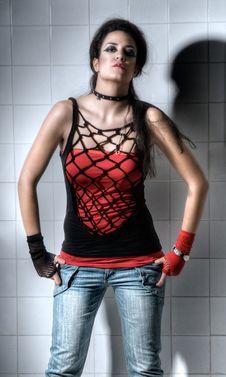 Free Female Posing Hardly Royalty Free Stock Photography - 9561177