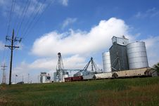 Grain Elevator Stock Photography