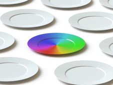 Free Tableware Collection - Push Here Royalty Free Stock Photo - 9561815