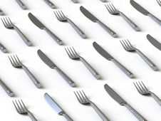 Tableware Collection - Push Here Royalty Free Stock Photography