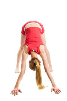 Free Blond Girl Doing Gymnastic Exercises Stock Photos - 9561893