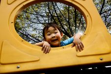 Free Boy Playing In Amusement Park Royalty Free Stock Photos - 9561908