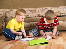 Free Two Boys Royalty Free Stock Image - 9562416