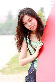 Asian Beauty Outdoors Royalty Free Stock Photo