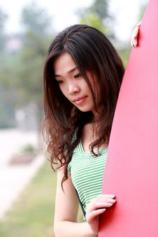 Asian Beauty Outdoors Stock Image