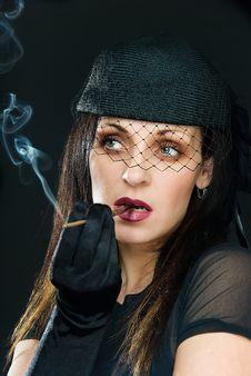 Free Smoke And Meditation Stock Photography - 9563562