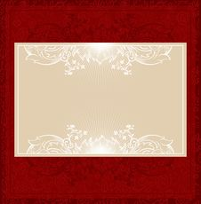 Free Floral Gold Banner Stock Image - 9563881