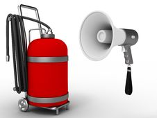 Free Megaphone And Gas Cylinder Stock Photo - 9564060