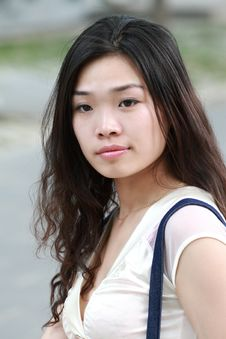 Free Asian Beauty Outdoors Royalty Free Stock Photography - 9564227