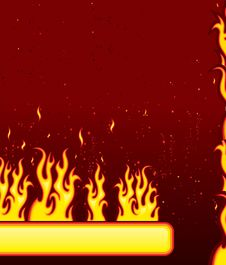 Fire Banner Royalty Free Stock Photo