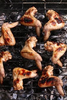 Free Chicken Legs On The Grill Royalty Free Stock Image - 9564496