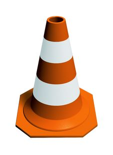 Free Traffic Cone Orange Royalty Free Stock Photos - 9564688
