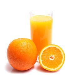 Free Orange And Juice In Glass Royalty Free Stock Photography - 9565947