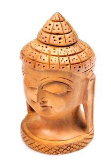 Wooden Buddha Face Stock Photos