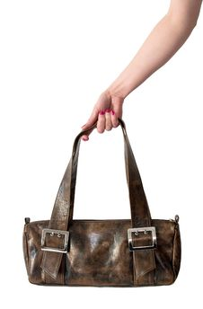 Free Leather Bag In Hand Stock Photography - 9566132