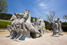 Free Sculpture Of King Qinshihuang Stock Photo - 9566340