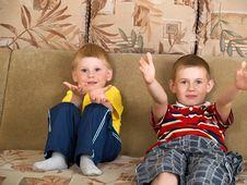 Free Two Boys Royalty Free Stock Photo - 9566395