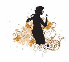 Free Dancing Woman Royalty Free Stock Photos - 9566918