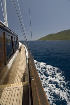 Wooden Sailing Boat Royalty Free Stock Image