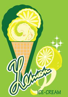 Free Ice-cream Lemon Stock Image - 9567671
