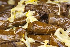 Greek Dolmades With Sauteed Onions Royalty Free Stock Photos