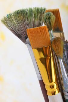 Free Paintbrushes Royalty Free Stock Photography - 9568947