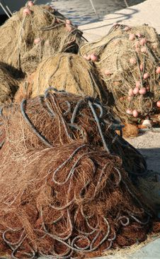 Free Heaped Fishing Nets Stock Images - 9569864