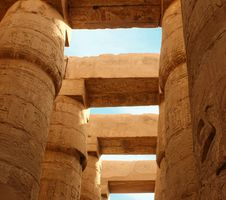Free Columns Of Karnak S Temple Royalty Free Stock Photos - 9569888