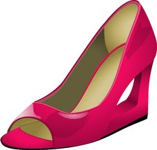 Free Footwear, High Heeled Footwear, Shoe, Pink Stock Image - 95611331