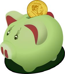 Free Green, Piggy Bank, Snout, Product Design Stock Photo - 95614070