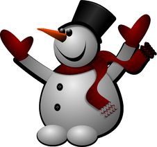 Free Snowman, Cartoon, Clip Art, Graphics Stock Image - 95617321