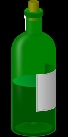 Free Bottle, Green, Glass Bottle, Liquid Royalty Free Stock Photography - 95617877