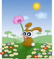Free Flower, Cartoon, Vertebrate, Rabits And Hares Royalty Free Stock Photography - 95618897