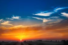 Free Sky, Afterglow, Horizon, Red Sky At Morning Stock Photo - 95619730
