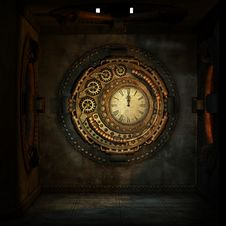 Free Clock, Darkness, Symmetry, Circle Stock Photos - 95621883