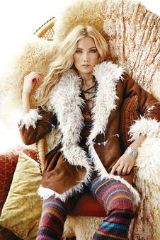 Free Fur Clothing, Fur, Fashion Model, Supermodel Royalty Free Stock Images - 95622029