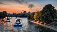 Free Bateaux Mouches On The Seine, Paris Stock Images - 95643904