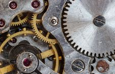Free Gray And Gold Steel Gears Royalty Free Stock Photos - 95644008