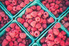 Free Fresh Raspberries In Baskets Stock Photo - 95644030