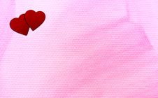 Free Two Hearts And Pink Stock Photos - 95644533