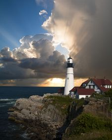 Free Lighthouse, Tower, Sky, Sea Stock Photos - 95657603