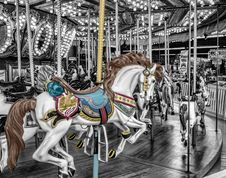 Free Amusement Ride, Carousel, Horse, Amusement Park Royalty Free Stock Images - 95657719