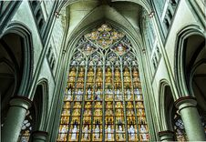 Free Stained Glass, Landmark, Cathedral, Gothic Architecture Royalty Free Stock Photography - 95660647