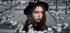 Free Beauty, Winter, Girl, Black Hair Stock Image - 95668341