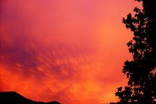 Free Sky, Red Sky At Morning, Afterglow, Nature Royalty Free Stock Photos - 95669328