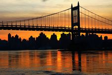 Free Bridge, Reflection, Sunset, Skyline Royalty Free Stock Image - 95669596