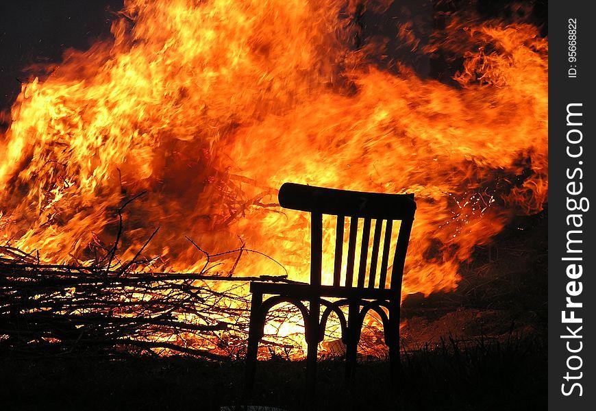 Fire, Flame, Sky, Heat